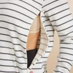 breastfeeding hooded stripped sweater perfect for breastfeeding during the fall and winter months