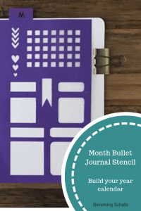 Monthly Bullet Journal stencil can make your year `pretty and organized quickly. Bullet journals can be such an incredible way to keep organized and stencils can make it fast and easy to make. Bullet journals are perfect for home organizing, mommy organizing, and every day life.