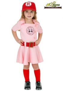 Dottie from A League Of Their Own toddler halloween costume. Perfect sports halloween costume for your little girl