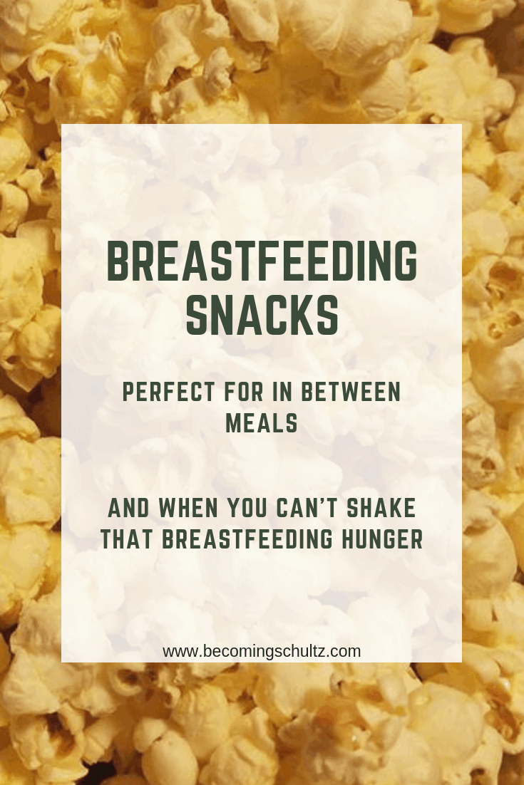 Breastfeeding hunger is a real thing. I couldn't believe how hungry I was breastfeeding but with some great snacks for breastfeeding moms you can push off some hunger. Snacks are a great way to hold you over between meals and are great for supporting a breast milk supply. Breastfeeding tips, breastfeeding support, mom advice