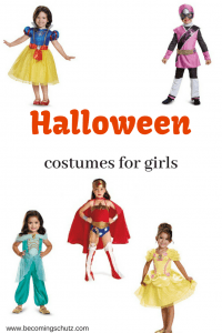 Halloween can be such a magical time for are kids as they get to pretend to be something or someone else. Playing dress up is so fun and these halloween costumes for girls won't disappoint. Princess halloween costumes are always so cute and if you have a more adventurous daughter who wants a wonder women halloween costume there is that too! Or even power ranger