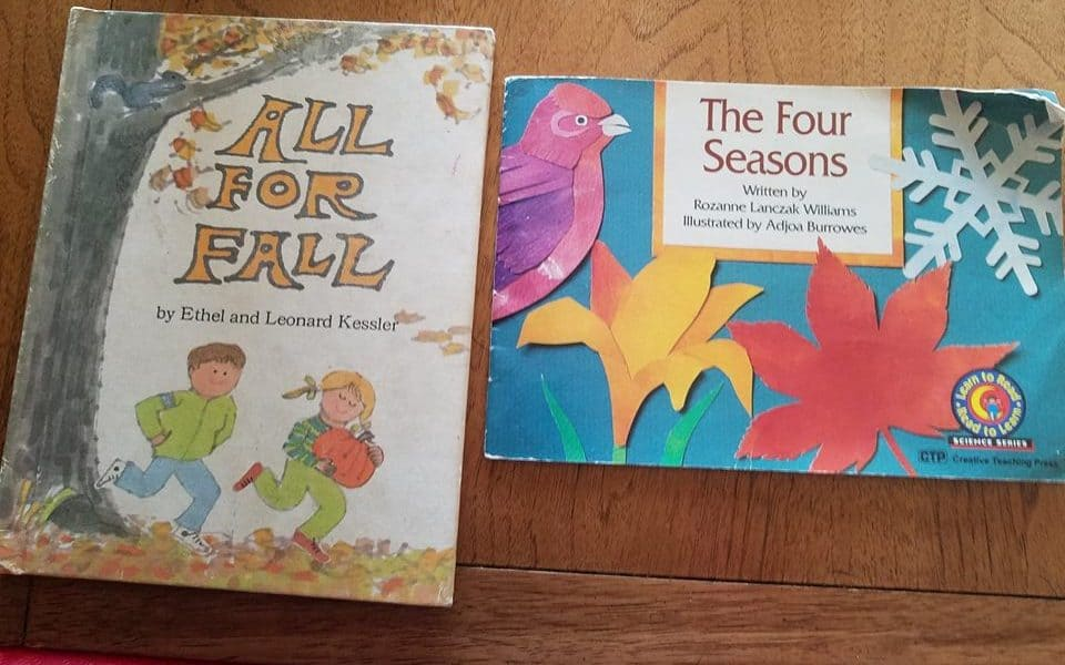 Toddler reading project about fall. Early learning can be easy, fun, and enjoyable for everyone involved