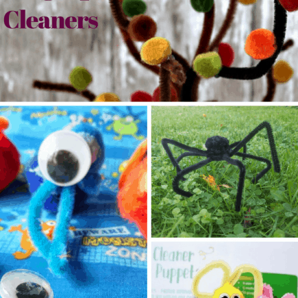 Crafts using pipe cleaners are a perfect mix of art and sensory play. Pipe cleaners are such a fun and cheap toddler craft supply. From fall crafts to Christmas Crafts this post has it all. Toddler fall crafts, Toddler spring crafts, DIY games, DIY crafts, DIY play toys