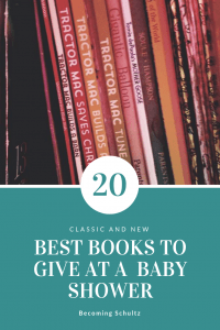 20+ baby books that are perfect for baby showers instead of cards. Signing a book is a sure fire way to make sure that new baby knows you love him for years to come. From classic books, to new books this is the perfect list of must have baby books. Even some books that are sure to make the new mom cry. Books are such a great early learning tool and what better time to start than right away.