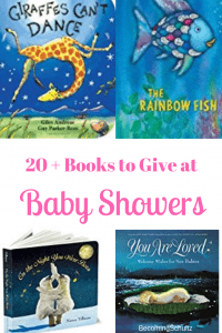 Books instead of cards at baby showers is such a fun chance to leave the new family a message that can be read for years to come. Remind that child how loved he is each and every day! Here is a list of over 20 books that need to be in every child's book collection. early learning, homeschooling, books for kids, books for babies, books for toddlers