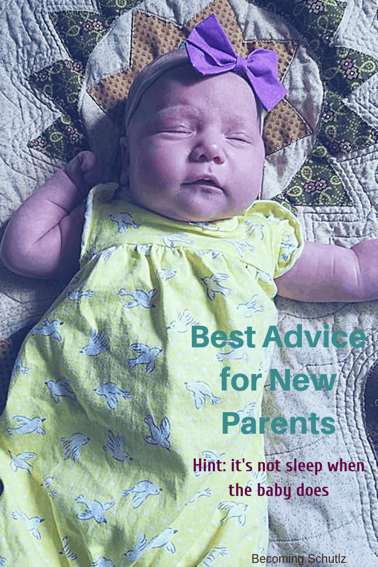 Being a new parent is a scary time but with some great mom advice you can be an amazing parent with out too much of the stress. Best Advice for new parents that isn't sleep when the baby sleep! I have 9 amazing tips for you to be a calm parent who can be confident in how you feel as a new parent. #parenting