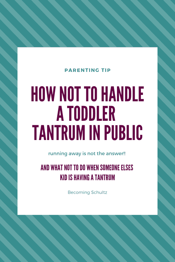 Dealing with a toddler having a tantrum in public can be a challenge. Trying not to be embarrassed or frustrated is key. You stay a calm parent to help your child calm down. Parenting tips to follow!