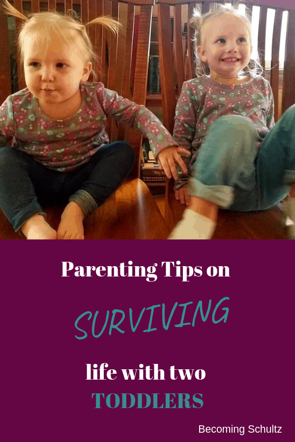 Feeling overwhelmed by the thought of having two toddlers? Not sure what to do or how you will survive? I share 8 of my favorite parenting tips on surviving two toddlers and keeping your sanity. mom destress, mom advice