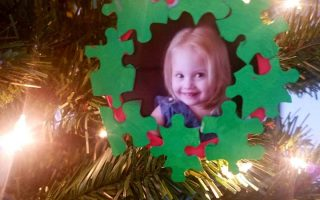 homemade christmas ornament, toddler Christmas ornament