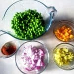 pea salad recipe, easy to make side dish, fast side dish, veggie dish for potlucks, vegetable dish for BBQ's