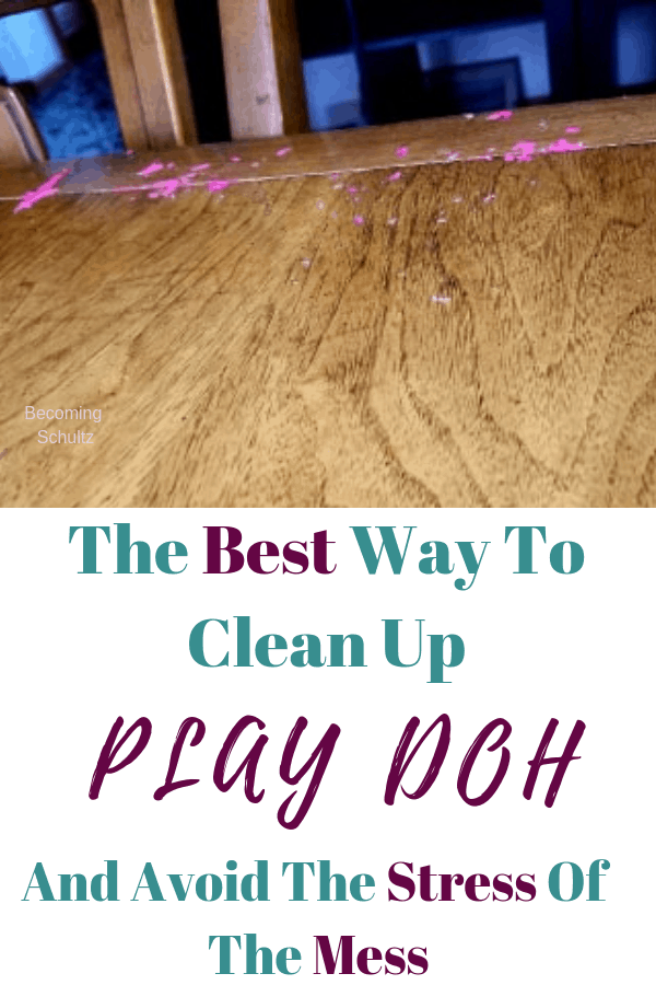 The best way to clean up play doh with out the stress of the mess. Cleaning is hard enough as a SAHM with out kids adding to it but play doh is so important for fine motor skills. So don't let the mess scare you
