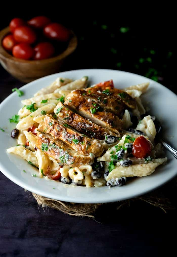 taco chicken alfredo recipe. delicious weeknight family meal for your meal plan