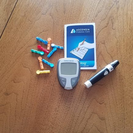Gestational diabetes meter, test strips and lancet
